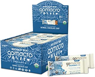 GoMacro MacroBar Mini Organic Vegan Snack Bars - Oatmeal Chocolate Chip (0.90 Ounce Bars, 24 Count)