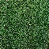 sti siepe artificiale ornamentale in rotoli con foglie ad ago largo bicolore 1x3mt