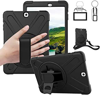Galaxy Tab S2 9.7 Case - Dropproof Shockproof Heavy Duty Tablet Cover Rotatable Kickstand Handle Stand Hand Strap Shoulder Belt Carrying Case for Samsung SM-T810/T813/T815/T819C 9.7