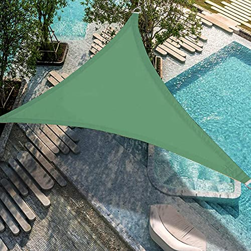 Toldo Vela Triangular,Patio Shack Toldo Vela De Sombra Triangular 5x5x5M,ProteccióN Rayos UV Y PoliéSter Impermeable Para Exterior,JardíN,Lonas Para Pergolas,Toldo Vela,Toldo Playa,Lonas Para Pergolas