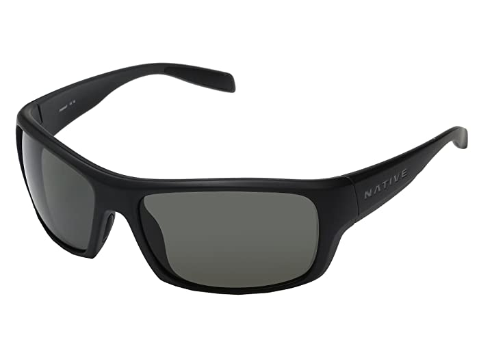Native Eyewear Eddyline (Matte Black/Granite) Sport Sunglasses