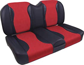 MODZ FS1 Golf Cart Custom Front Seat - For Club Car Precedent - Red and Black [Click for More Options]