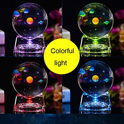 Product Image 4: 3D Crystal Ball with Solar System Model, 80mm (3.15 inch) Solar System Crystal Ball for Teacher of Physics, Girlfriend, Classmates and Birthday Gift