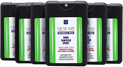 NEW NB Naturally Bold Antiseptic & Disinfectant Hand Sanitizer Spray - 20 ml