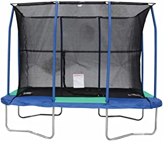 oldzon 7 x 10 Foot Rectangular Trampoline with Padded Enclosure with Ebook