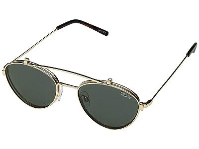 QUAY AUSTRALIA Elle (Gold/Green) Fashion Sunglasses