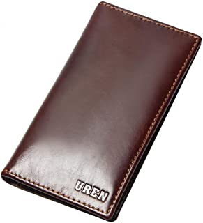 Wallets Mens RFID Blocking with Money Clip, Bi-fold Slim Genuine Leather Men Wallet with Coin Pocket, Credit Card Slots, ID Window. Minimalist Mini Wallet for Gents Men with Gift Box