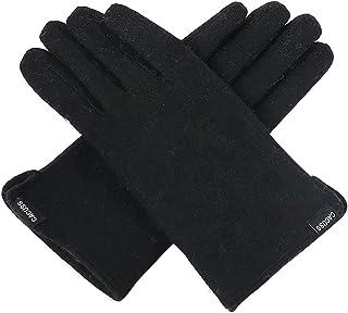 CACUSS Outdoors Gloves for Men Wool Winter Gloves Bike Gloves Finger Snow Knit Gloves Warm Knitted Gloves