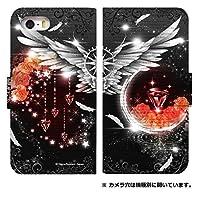 手帳型 スマホケース [iPhone7] ケース ゴシック デザイン かわいい 柄 0170-C. 紅宝石の羽 アイフォン 7 ケース カバー おしゃれ 人気 アイフォン セブン カバー