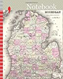 Notebook: 1855, Colton Map of Michigan
