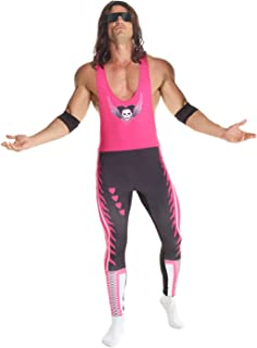 Mens Bret The Hitman Hart Wrestler WWE Fancy Dress Costume Costume - Large