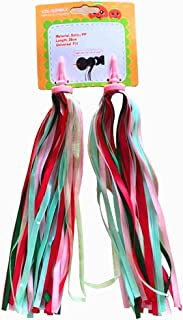 AISHEMI Kid's Bike Handlebar Streamers Bicycle Scooter Trike Colorful Long Satin Ribbon Streamer Baby Carrier Accessories - Easy Attachment to Cycle's Handlebars (1 Pair)