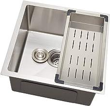 Cuba para cozinha gourmet pia aço inox com acessórios Terena 40 cm Pingoo.casa - Prata