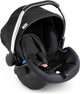 Hauck Babyschale Comfort Fix, ECE Gruppen 0 ab Geburt bis 13 kg nutzbar, leicht, Seitenaufprallschutz, mit Isofix Base kompatibel, schwarz black