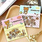 80 Pcs/lot Cute Rilakkum_a Mini Paper Sticker Bag DIY Diary Planner Decoration Sticker Album Scrapbooking Kawaii Stationery
