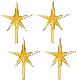 Darice Ceramic Tree Star Ornament, Gold (4 Pieces)