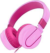 Elecder i36 Kids Headphones Children Girls Boys Teens Foldable Adjustable On Ear Headphones 3.5mm Jack Compatible iPad Cellphones Computer Kindle MP3/4 Airplane School Tablet Pink/Rose