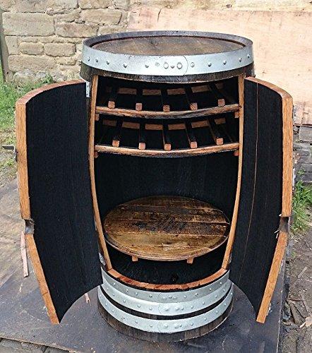 Roble barril de whisky escocés reciclado botellero