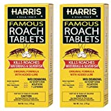HARRIS Roach Tablets, Boric Acid Roach Killer with Lure, Alternative to Bait Traps (6oz, 2-Pack)