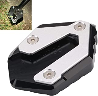 Motorcycle Side Stand Plate Kickstand Extension Pad Enlarger For YAMAHA MT-07 Moto Cage Tracer 700 XSR700 FZ-07 2014-2018 2015 2016 2017 - Black
