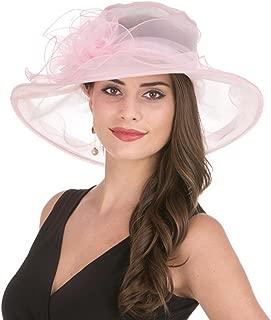 Blume Kentucky Derby Z/&X Damen Organza-Hut mit breiter Krempe