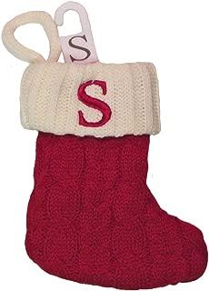 St. Nicholas Square Mini Cable Knit Stocking-Letter S, Mini 7