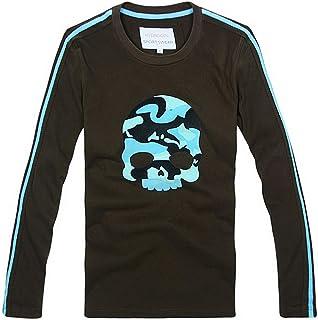 [ハイドロゲン] メンズ Tシャツ おしゃれ ブランド ドクロ スカル カジュアル 長袖 HYDROGEN YC7486 [並行輸入品]