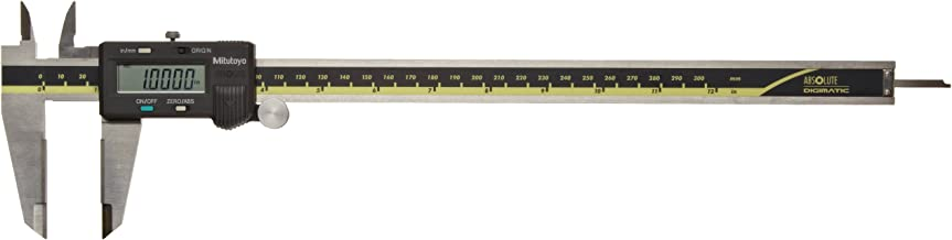 Mitutoyo 500-166CAL Absolute Digital Caliper with Calibration, Stainless Steel, Battery Powered, Inch/Metric, 0-12