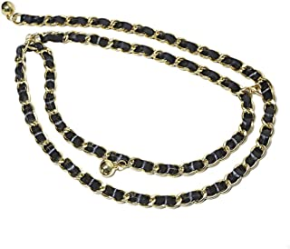 Women's Personality Punk Metal Decorative Waist Chain Pant Chain Belt Fashion Accessory. (Color : Black)