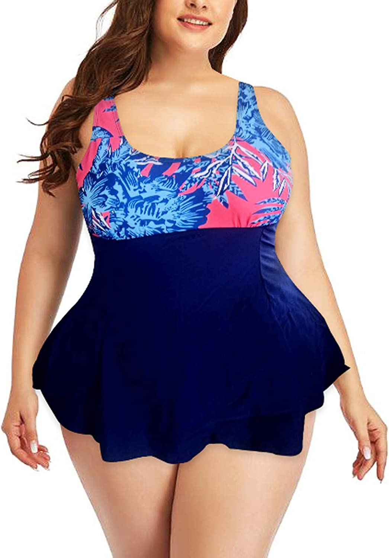 A2A Backless Swimsuit for Women Two Piece Bathing Suit Tummy Control Swimwear Modest Tankini Top with Boyshort Beachwear