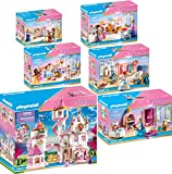 PLAYMOBIL® Princess 6er Set 70447 70451 70452 70453 70454 70455 Prinzessinnenschloss + Konditorei +...
