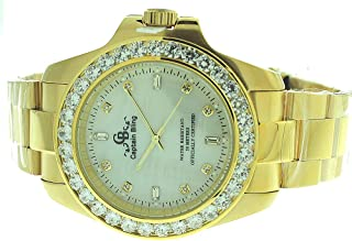 Full Stainless Steel Watch-iced Out Bezel- Genuine CZ-Water Resistant with Box #5