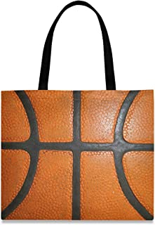 LUPINZ Damen Handtasche/Handtasche aus Segeltuch, Basketball, Orange