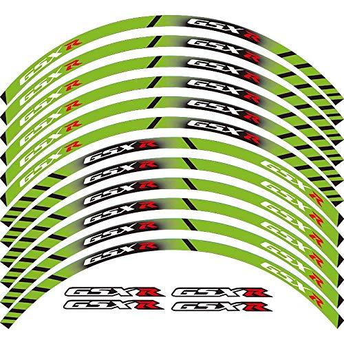 Calcomanías de rueda de rotura exterior de borde de borde de 12 x (Color : Green)