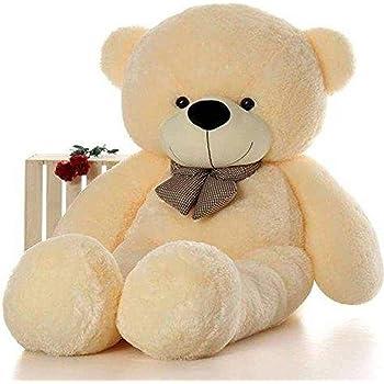 CLICK4DEAL 4 Feet Cream Teddy Bear - 122Cm