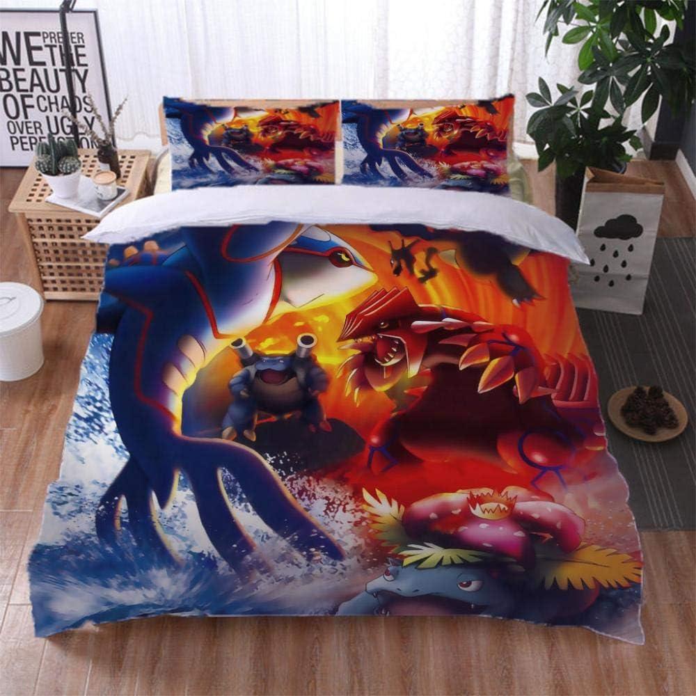 JJBWZX Bedding Jacksonville Mall Duvet Covers 2021 autumn and winter new Full 80X90In 3D Anime Dragon Animal