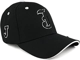 Trendy Apparel Shop Gothic Alphabet Letters 3D Monogram Embroidered Structured Baseball Cap