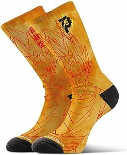 Skate x Dragon Ball Z Men's Saiyan Goku Crew Socks Orange