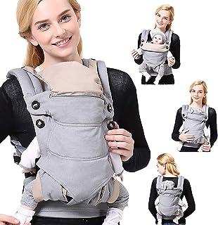 SaponinTree 4-in-1 draagzak voor pasgeborenen, ademend verstelbare Swaddle Wrap met capuchon, ergonomische borstvoeding, b...