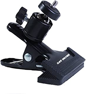 Slow Dolphin Tripod Camera Clip Clamp Flash Reflector Holder Mount with 1/4 Inch Screw 360 Degree Swivel for Studio Backdr...