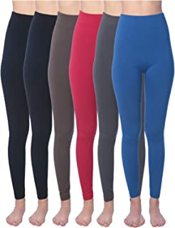 Active Club Women's Fleece Lined Leggings - Seamless High Waisted Soft Brushed