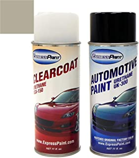 ExpressPaint Aerosol - Automotive Touch-up Paint for Nissan Rogue - Gray Metallic Clearcoat K51 - Color + Clearcoat Package