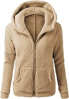 Women's Sherpa Fleece Hooded Jacket Coat, Lovor Sale Winter Warm Fuzzy Shearling Fluffy Hoodie Sweatshirts with Pockets