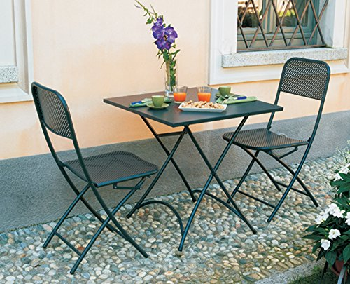 PEGANE Ensemble de Table + 2 chaises Pliante
