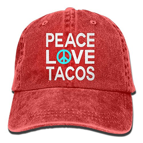 Peace Love Tacos Vintage Jeans Baseball Cap Trucker Hat for Men and Women HI493