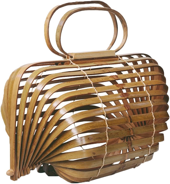 6c43010c3139c Prom-near Outdoor Outdoor Outdoor Beach Bambus geflochtene Tasche Bambus  Handtasche handgefertigt f uuml r Frauen geflochtene Tasche Strand Retro  Bambus ...