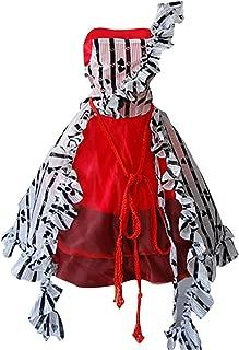 Halloween Masquerade Alice Tim Burton Red Court Dress Costume