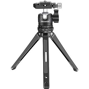 Neewer 7.5in/19cmマクロ卓上ミニ三脚 ポータブルコンパクト 360度ロープロファイルボールヘッドと1/4インチQRプレート付き Canon NikonなどDSLRカメラに対応 最大耐荷重8kg