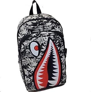 Shark Backpack | Stylish Canvas Backpack With Free Shark Keychain (Coconut Tree)