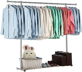 JIAYING Séchoirs à linge Les vêtements de séchage Porte-bagages, vêtements en métal Séchoir, Porte-bagages Blanchisserie E...